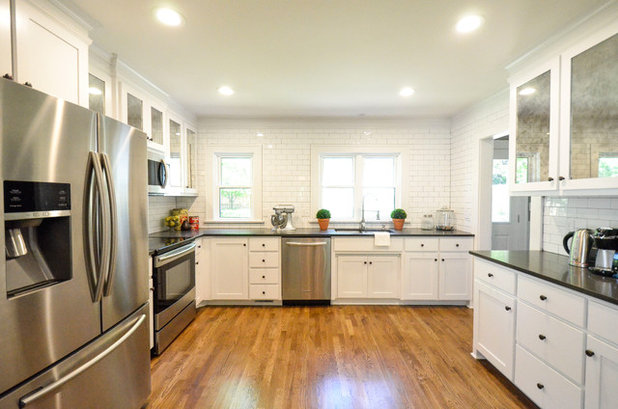Transitional Kitchen by Owen Homes LLC