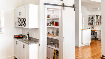 Brooksville Home kitchen and pantry with sliding barn door