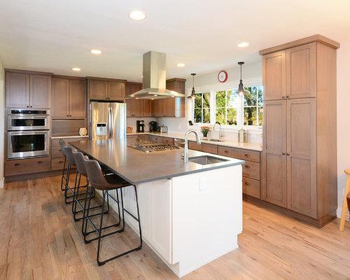 Zinc countertop kitchen home design ideas pictures for Kitchen zinc design
