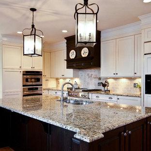 Kitchen - traditional l-shaped kitchen idea in Atlanta