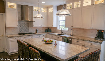"Brown Fantasy Marble Kitchen w/ 2"" Thick Countertops"