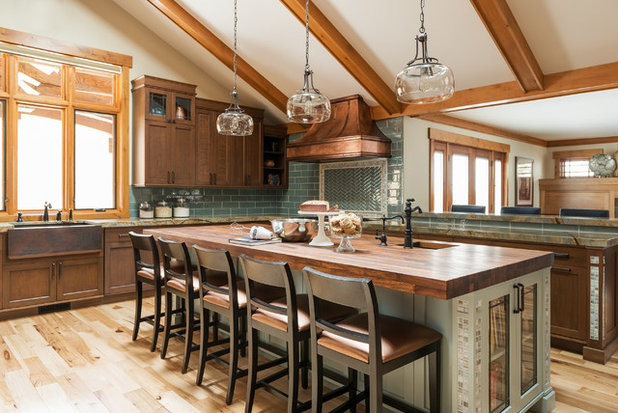 Craftsman Kitchen by Renovation Design Group