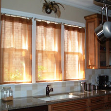 Contemporary Kitchen by Camille Moore Window Treatments & Custom Bedding