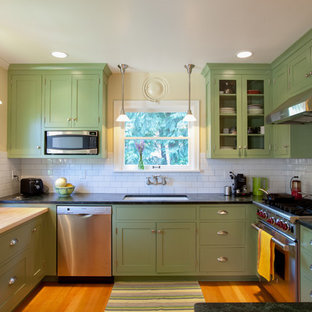 Sage Green Kitchen Cabinet Ideas And Photos Houzz