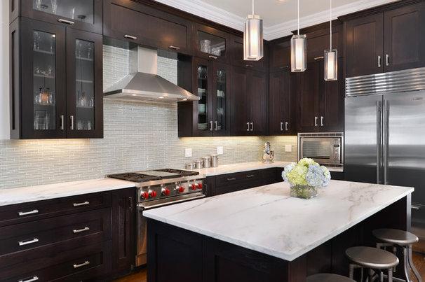 Transitional Kitchen by Elizabeth Taich Design