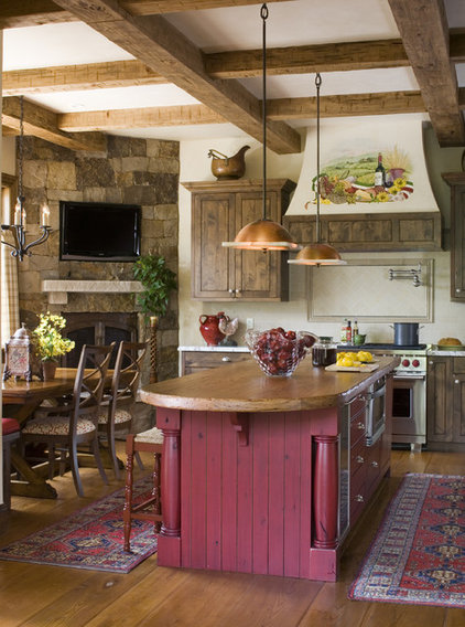 rustic kitchen by Slifer Designs
