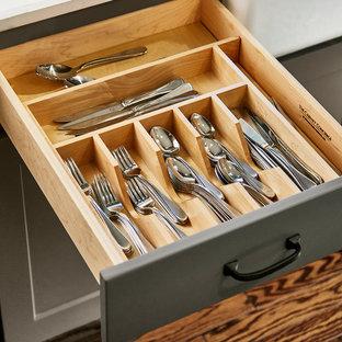 Built-in silverware drawer