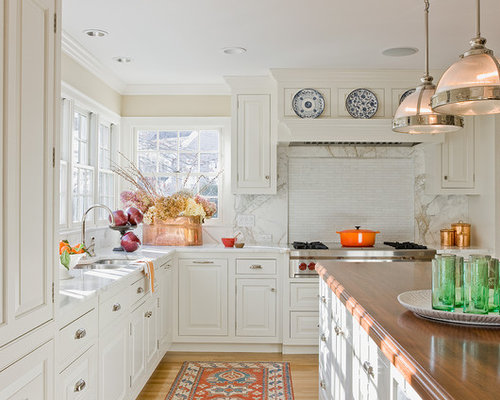 Kitchen copper accents houzz - Kitchen with copper accents ...