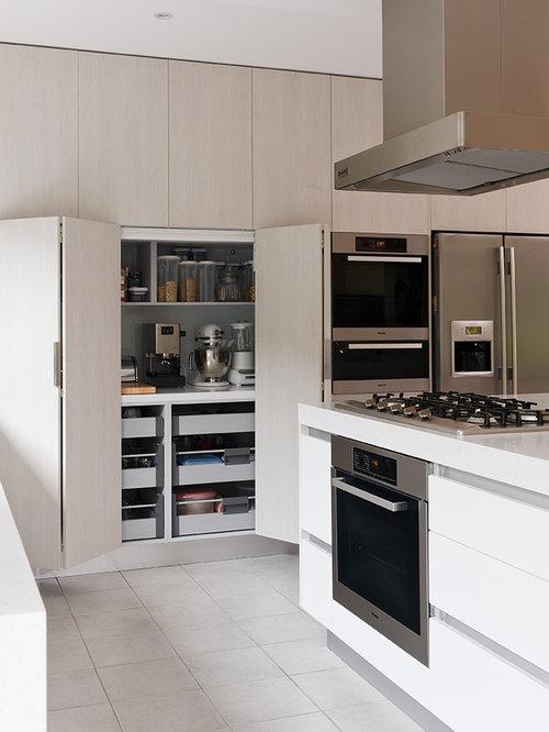 Carrelage moderne cuisine dcoration cuisine bois for Taille moyenne cuisine