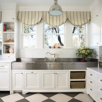 Bulter's Pantry with German Silver Sink