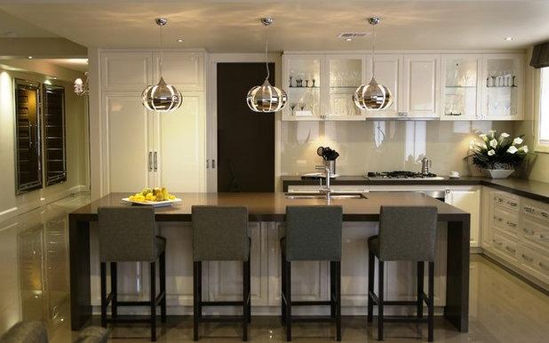 Transitional Kitchen by Lewisham Interiors