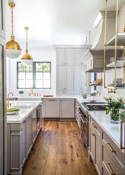 Transitional Kitchen by Boswell Construction