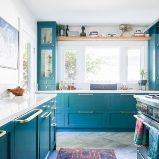 Immagine di una cucina boho chic