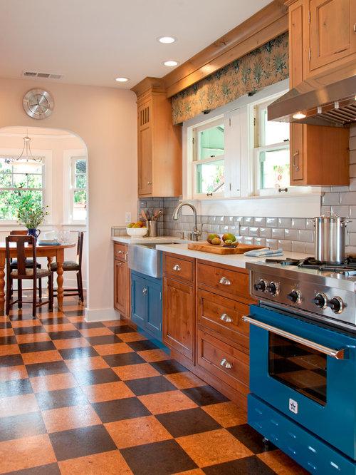 Kitchen Design Ideas Renovations Photos With Subway Tile Splashback And Cork Floors
