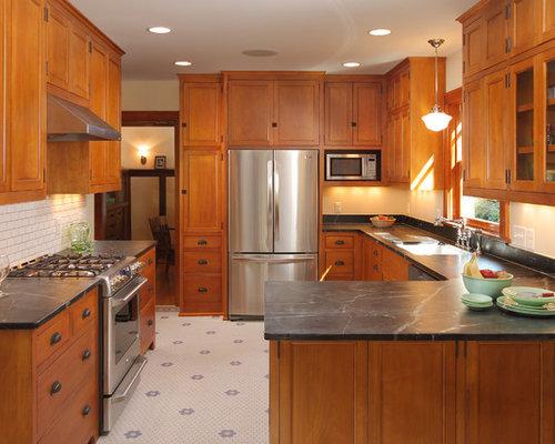rustikale k che mit speckstein arbeitsplatte ideen bilder. Black Bedroom Furniture Sets. Home Design Ideas