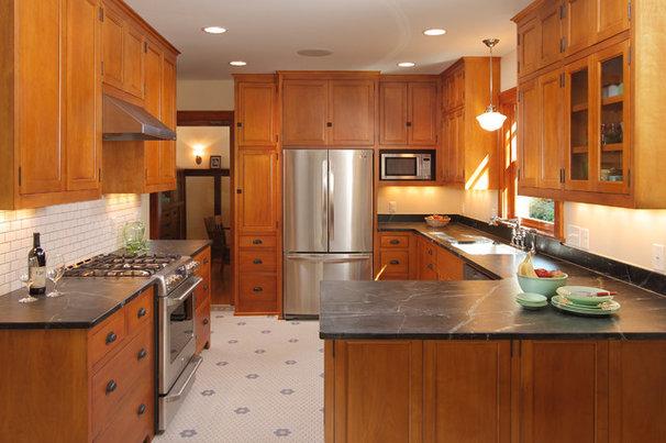 Craftsman Kitchen by w.b. builders