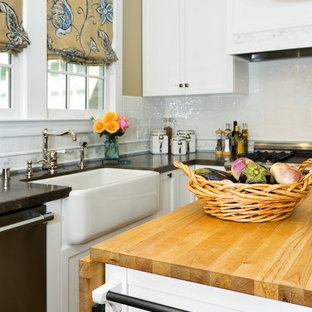Traditional Kitchen Ideas   Example Of A Classic Kitchen Design In San  Francisco With A Farmhouse
