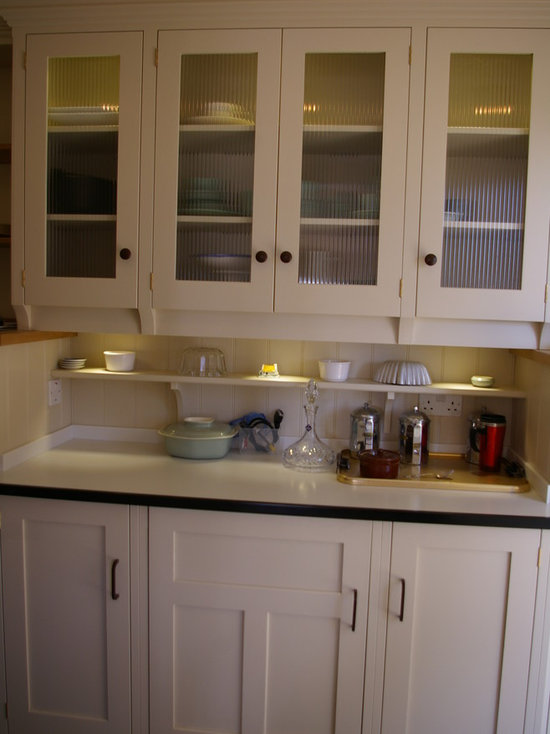 reeded glass cabinet doors | houzz