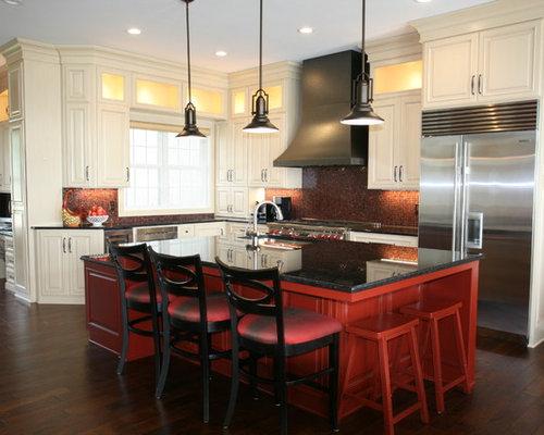 Burnt Red Kitchen Design Ideas Renovations Photos