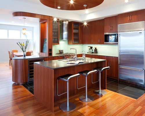 Example Of A Trendy Kitchen Design In Minneapolis With Stainless Steel  Appliances Part 79