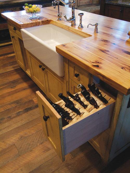 Chefs Knife Butcher Block Drawer Home Design Ideas