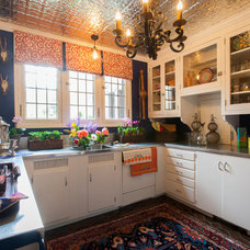 Eclectic Kitchen by Riley Art and Interiors