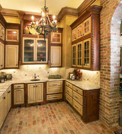 Mediterranean Kitchen by Terry M. Elston, Builder