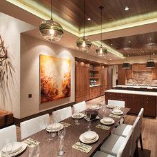Contemporary Kitchen by Kaegebein Fine Homebuilding