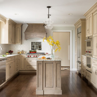 Butternut Traditional Painted Island Kitchen Remodel