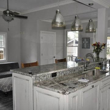 Byrum Remodel/Design Plan: Transform 4 Rms. into Open Floor Plan Kitchen & Den