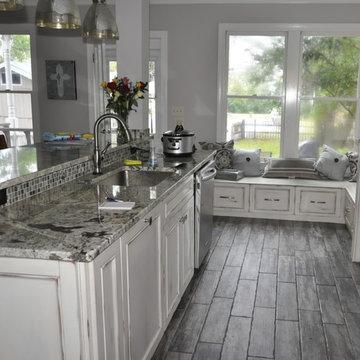Byrum Remodel/Design Plan:To transform 4 Rms. into Open Floor Plan Kitchen & Den