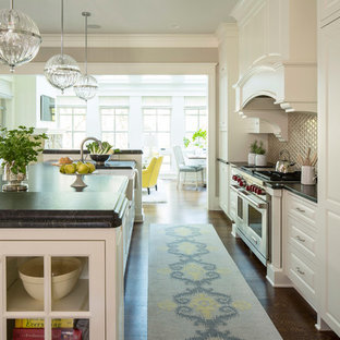 Transitional Kitchen Designs Idea In Minneapolis With Paneled Liances