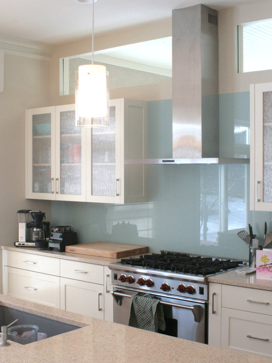 one piece glass backsplash | houzz
