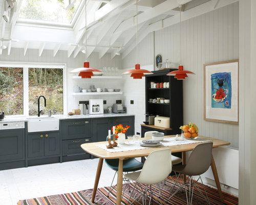 Midcentury modern kitchen designs - Example of a 1960s kitchen design in  Dublin
