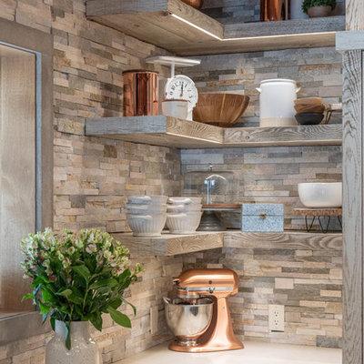 Kitchen - rustic kitchen idea in Salt Lake City