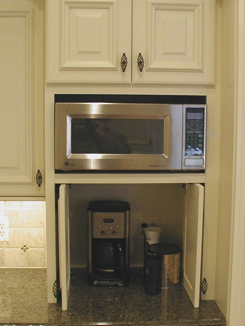 Microwave Storage Home Design Ideas, Pictures, Remodel and ...