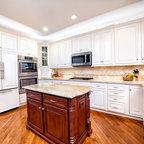 Brown and cream kitchen - Traditional - Kitchen - Atlanta ...