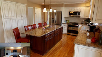 Cabinet Refacing in glazed RTF and Cherry Island