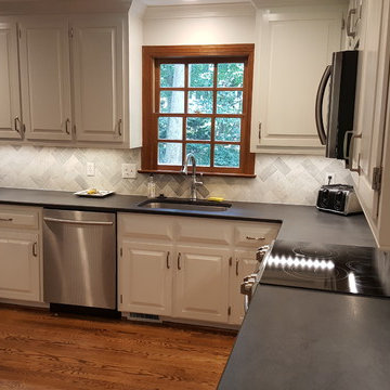 Cabinet Refinish and Pantry Door Painting