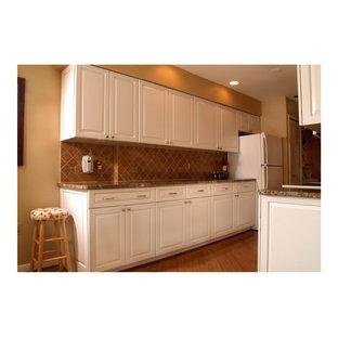 White Transitional Kitchen Houzz