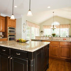 Kitchen Island with Built-in Microwave Ideas - Traditional ...