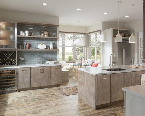 Kitchen Pantry Design Ideas Renovations Photos With Grey Splashback