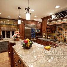 Mediterranean Kitchen by Cabochon Surfaces & Fixtures