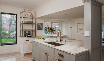 Calacatta Gold Marble Kitchen Countertops and Full Height Backsplashes