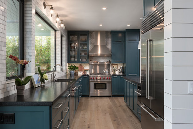 Transitional Kitchen by sk7 design studios, inc.