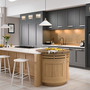 Caledonia Kitchens - Conival Smooth Painted Roofers Lead & Washed Oak