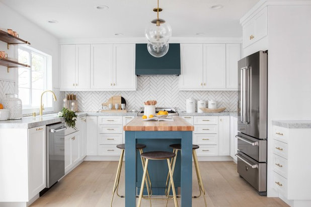 Transitional Kitchen by Lindye Galloway Interiors