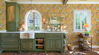 California Kitchen Remodel with reclaimed French Terracotta Floor Tiles