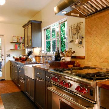 California Spanish Style Kitchen