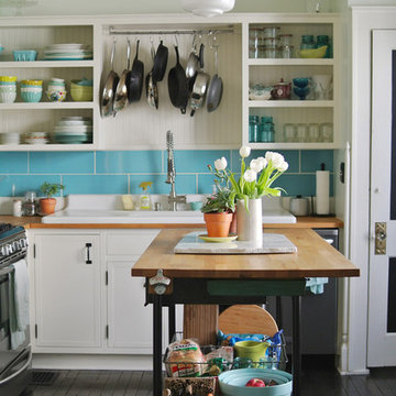 Calm Cool Kitchen Makeover